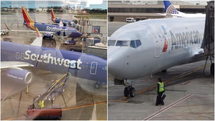 Positivos al Covid-19 cientos de empleados de American y  Southwest Airlines