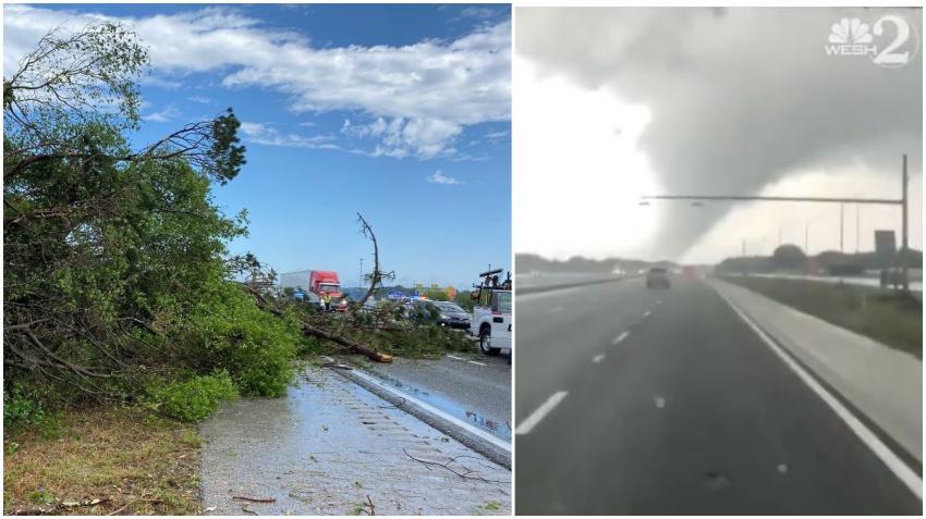Impresionantes videos de un tornado que azotó el área central de Florida por la I-75