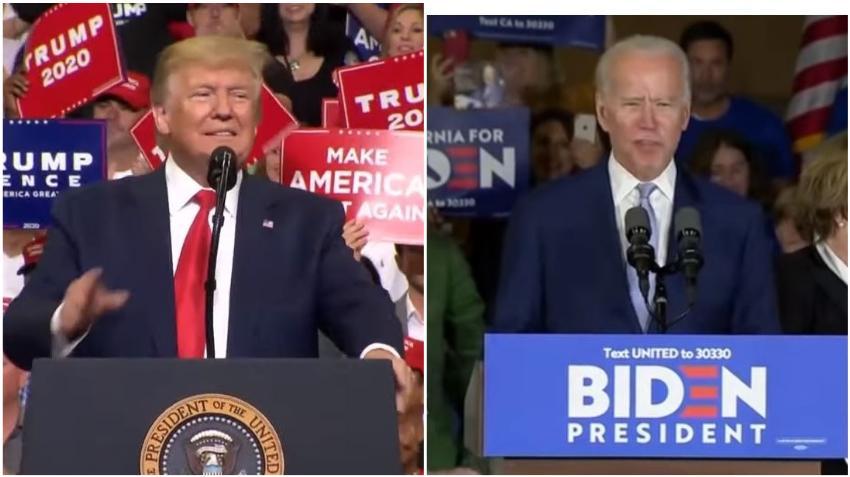 Encuesta revela que Biden y Trump están empatados en Florida pero el presidente gana en el voto hispano