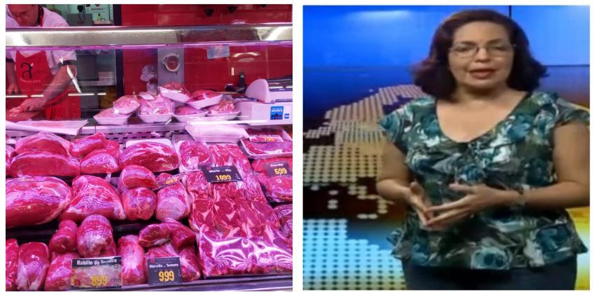 """Periodista oficialista habla de """"escasez de alimentos"""" en EEUU y España y le llueven las críticas"""