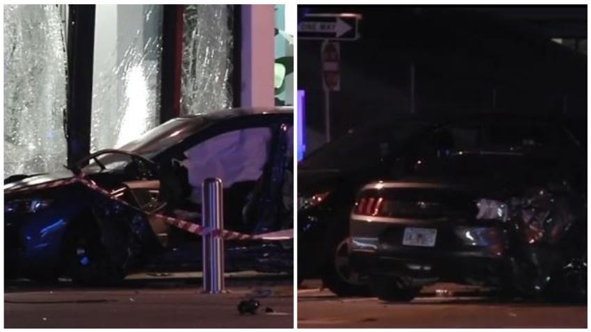 Conductor abandona su auto y se da a la fuga a pie tras fatal accidente que involucró a cuatro vehículos en Wynwood