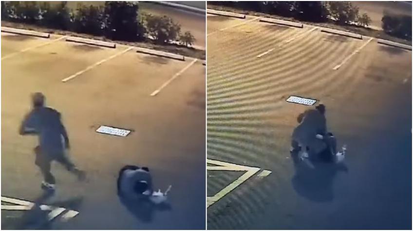 Brutal golpiza a un hombre en un estacionamiento en Miami para robarle la billetera queda captada en cámara