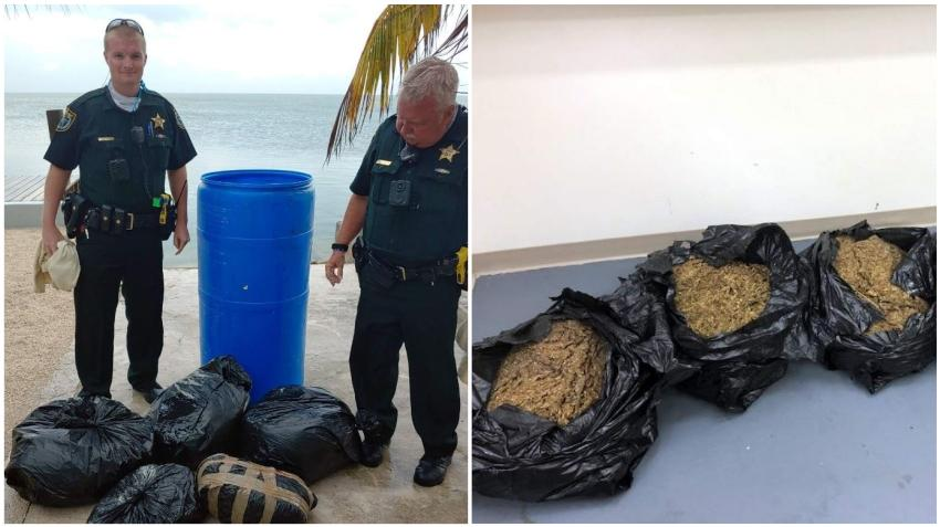 Un barril lleno de marihuana llega a tierra en uno de los Cayos de la Florida