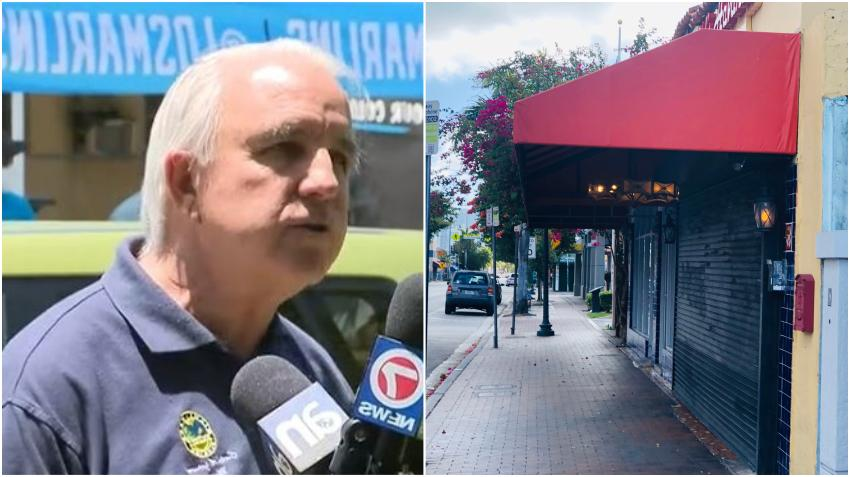Alcalde de Miami-Dade Carlos Giménez anuncia el cierre de los restaurantes y gimnasios en todo el condado
