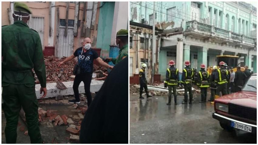 Intensas lluvias y la falta de reparaciones provocan el derrumbe de un edificio en Cienfuegos, Cuba
