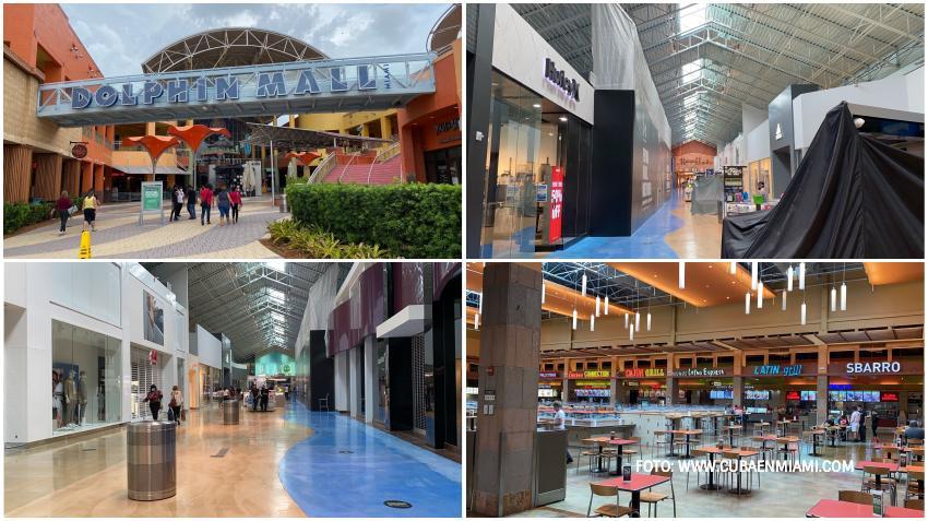 Así luce el centro comercial Dolphin Mall en sus primeros días de reapertura