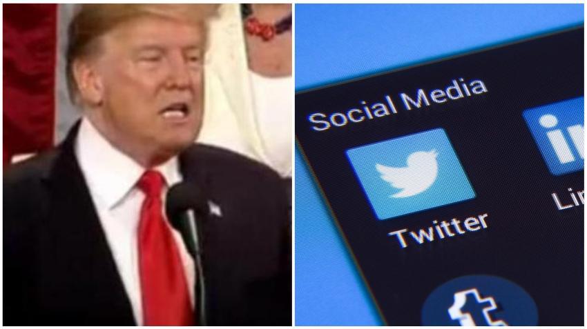 Presidente Trump arremete contra Twitter después de que la plataforma marcará comentarios suyos sobre las elecciones y pusiera una alerta que lo desmiente