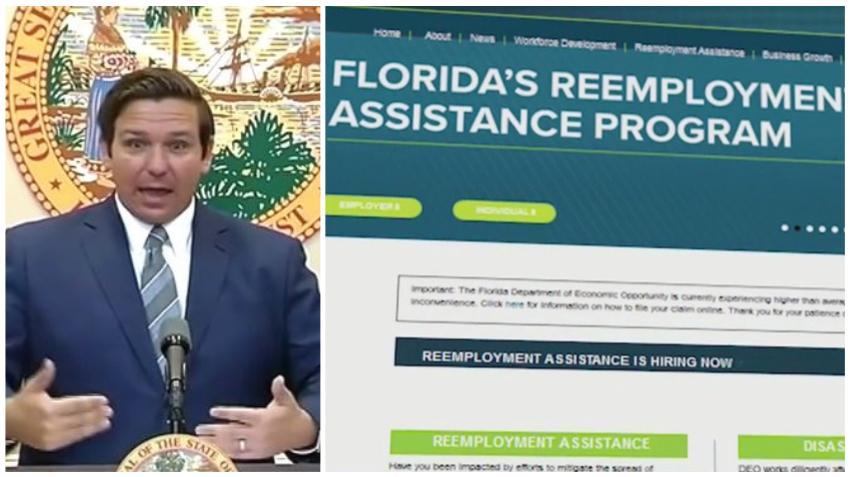 """Gobernador de Florida critica el sistema de ayuda de desempleo del estado: """"Está diseñado para frustrar a las personas para que renuncien a presentar reclamaciones"""""""