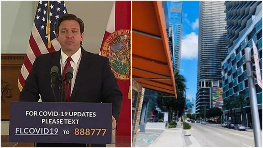 Gobernador de Florida aprueba plan de Miami-Dade para comenzar a reabrir la economía el próximo lunes
