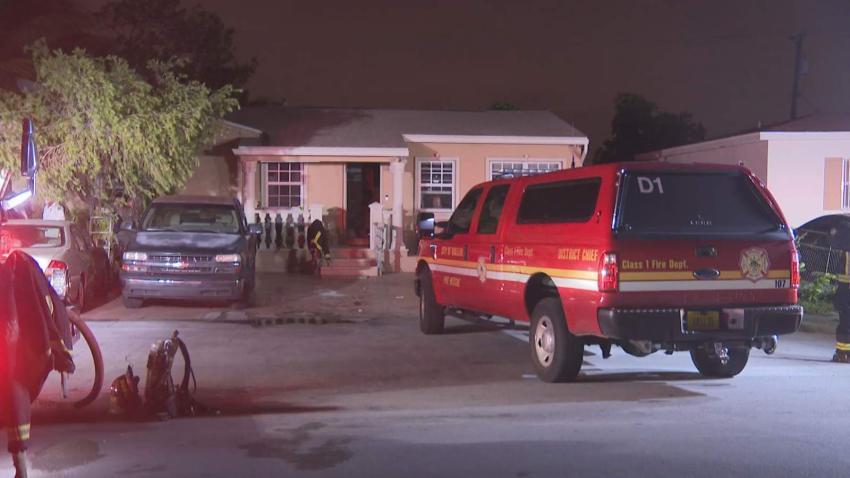 Fuertes vientos en Hialeah ocasionan un incendio en una vivienda