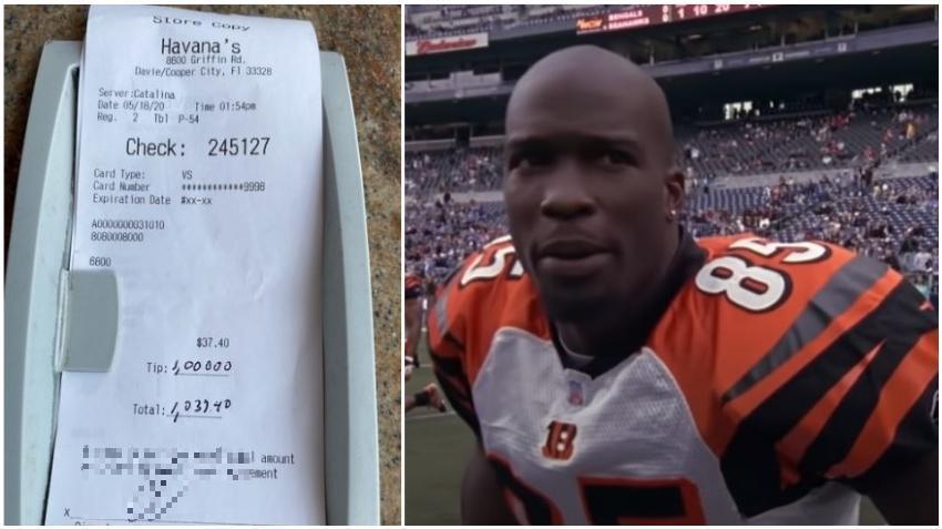 Ex jugador de la NFL deja propina de $1000 en un restaurante cubano del sur de la Florida el día de su reapertura