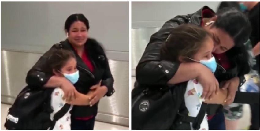 Se reúnen en Miami madre e hija cubana, luego de que la niña se quedara varada en Guyana, en medio de la pandemia