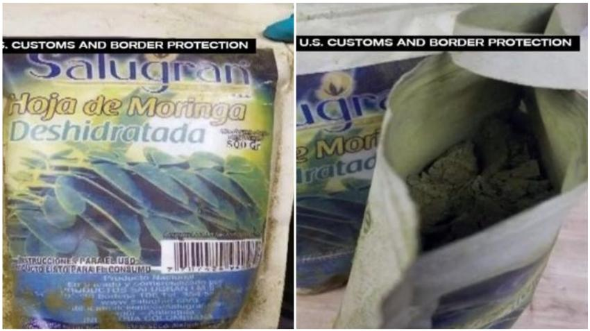 """Incautan en el Aeropuerto de Miami $100.000 dólares de cocaína procedente de Colombia que venía en paquetes de """"moringa deshidratada"""""""