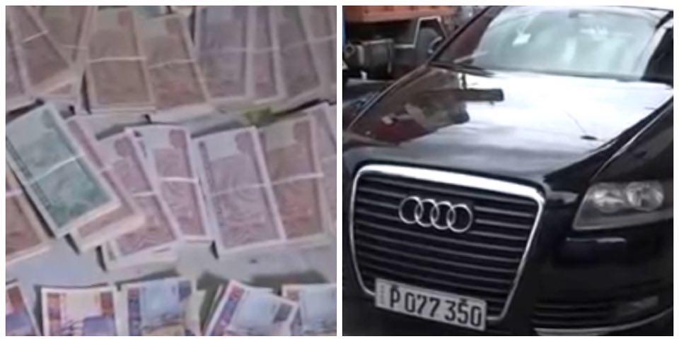 Operativo policial en Lawton termina con el decomiso de más de un millón de pesos y dos autos de la marca Audi