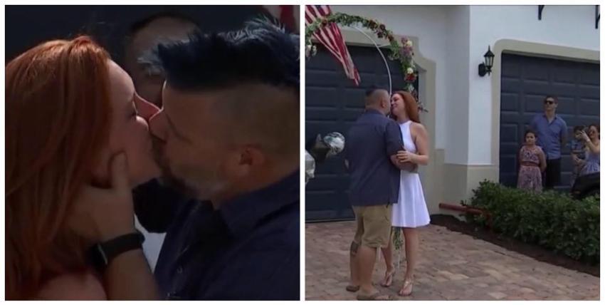Superaron el reto de la cuarentena juntos las 24 horas del día, y decidieron casarse en la entrada de su casa