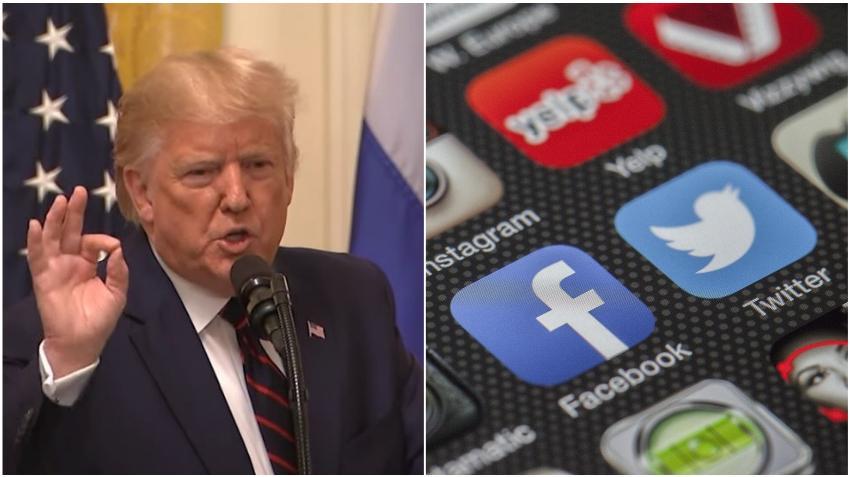 Donald Trump firma una orden ejecutiva dirigida contra las redes sociales después de que Twitter le señalara dos publicaciones