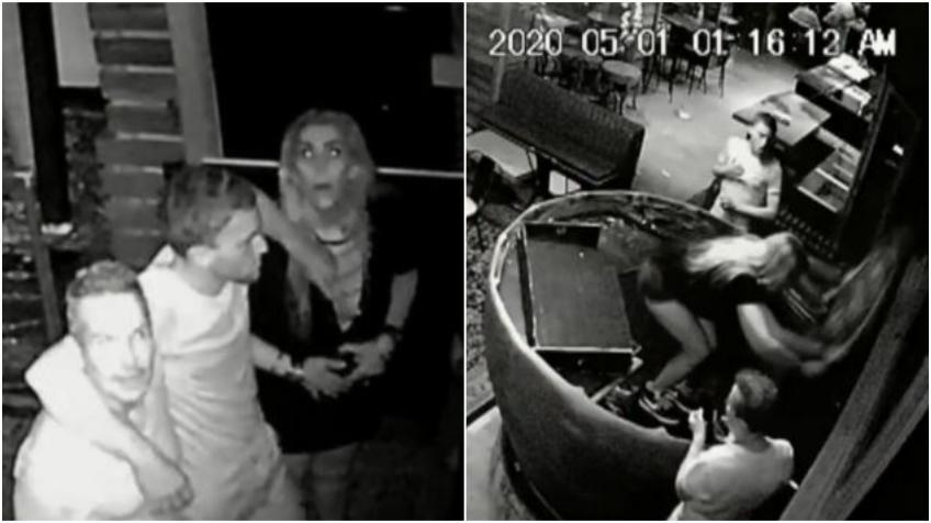 Dos hombres y una mujer vandalizan popular bar en Brickell