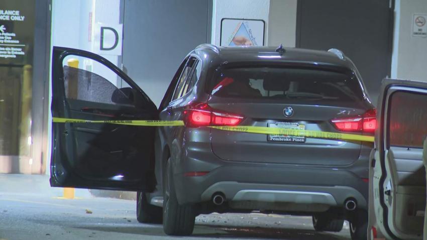 Autoridades revelan que un hombre y una embarazada eran los que conducían el auto baleado que estaba fuera del Hialeah Hospital