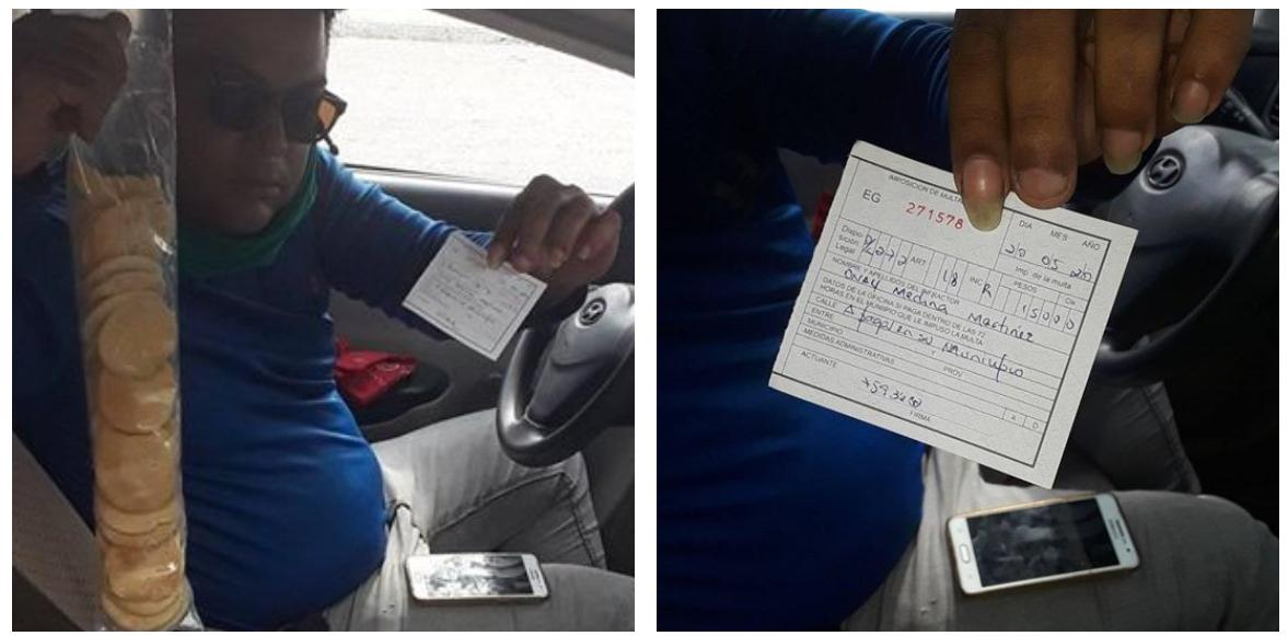 Denuncian desde La Habana multaron a un transportista por comer galletas dentro de su auto