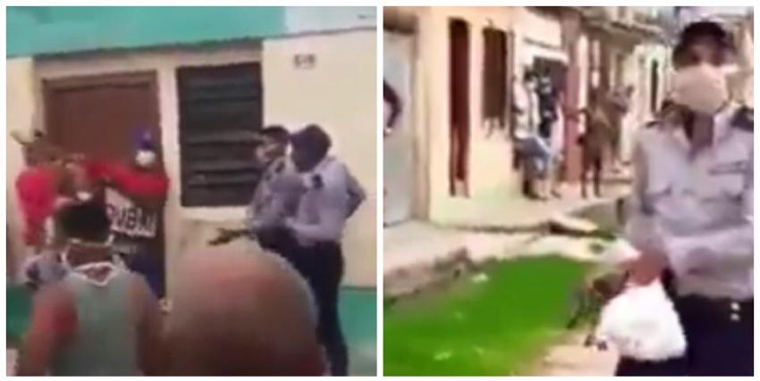 Policía saca una pistola y amenaza a vecinos de un barrio matancero, tras un altercado