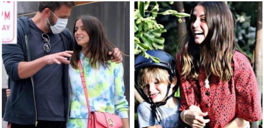 En medio de los rumores de embarazo, Ana de Armas viaja con Ben Affleck y sus hijos