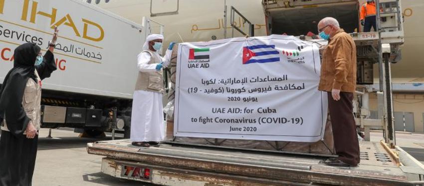 Cuba recibe ocho toneladas de suministros médicos, un donativo de Emiratos Árabes