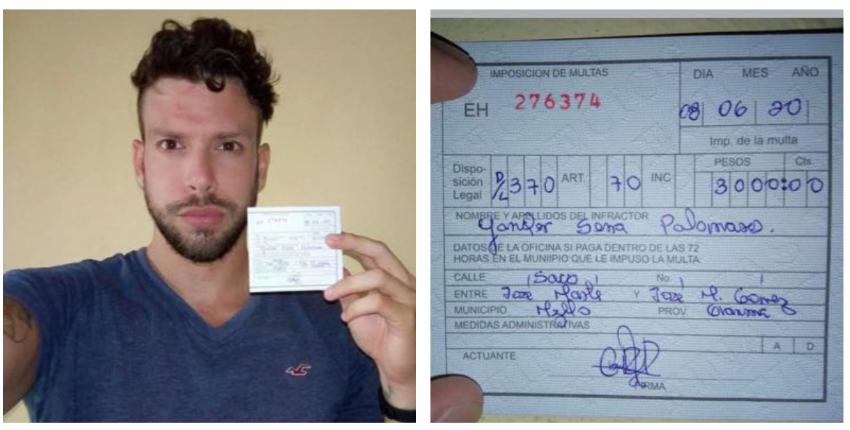 Multado con 3.000 pesos bajo el Decreto Ley 370 el youtuber cubano Yander Serra