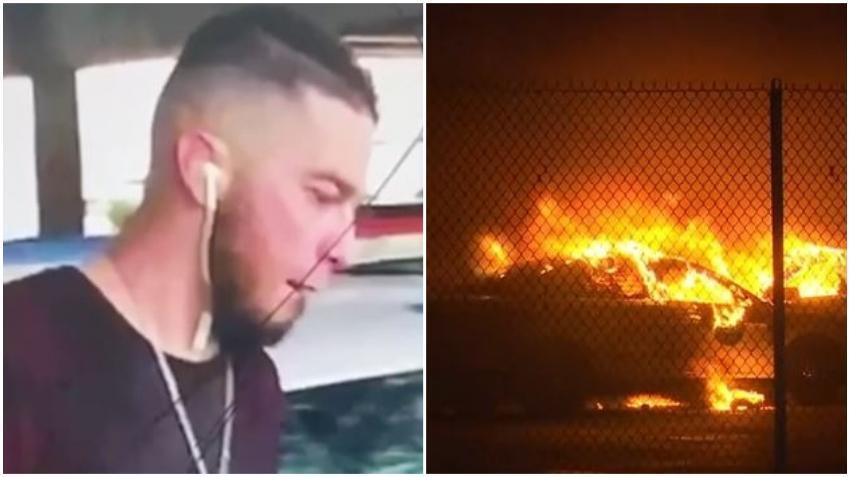 Policía de Miami encuentra al hombre sospechoso de incendiar una patrulla durante las protestas