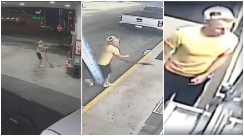 Piden la ayuda del público para identificar a un hombre que dejó destrozos en una gasolinera de Hialeah