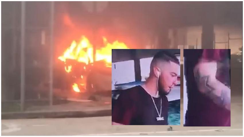 FBI ofrece $25 mil dólares  por información sobre hombre sospechoso de quemar un auto de la policía de Miami