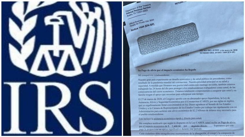 IRS recomienda guardar y no botar la carta sobre el recibo del pago de ayuda económica