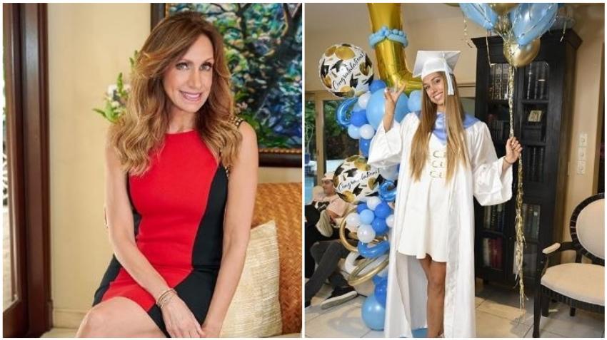 La cubana Lili Estefan orgullosa por la graduación de su hija Lina Luaces
