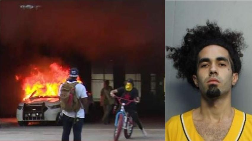 Joven arrestado por dañar patrullas de la policía de Miami afirma que su grupo recluta a otros para incitar a la violencia en las protestas