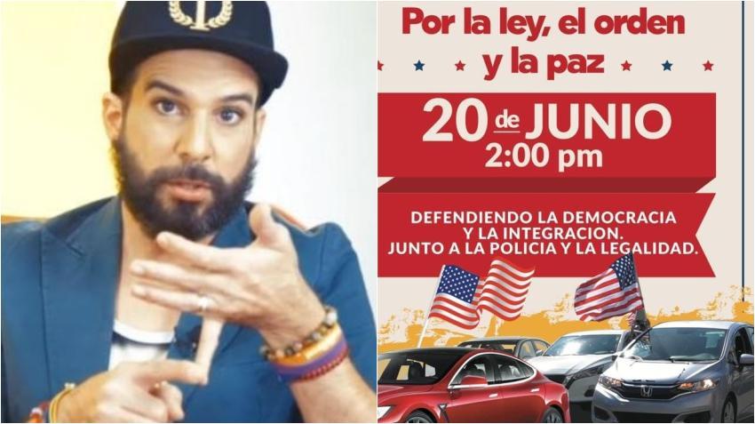Presentador cubano Alexander Otaola convoca en Miami a una caravana por la ley, el orden y la paz