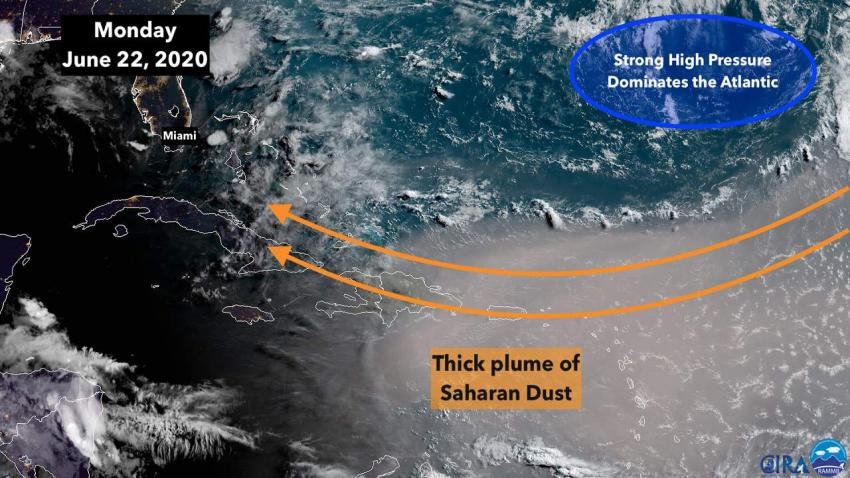 Polvo del desierto del Sahara llegará al sur de la Florida esta semana