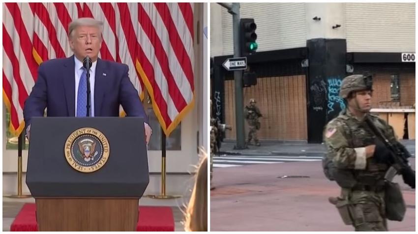 Presidente Trump pide a los gobernadores a desplegar la Guardia Nacional y advierte que movilizará al ejercito armado en las calles de Estados Unidos