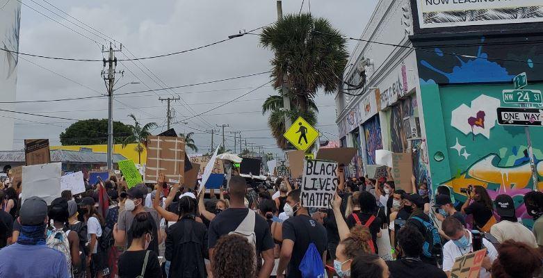 Protestas en Miami por séptimo día consecutivo por la muerte de George Floyd