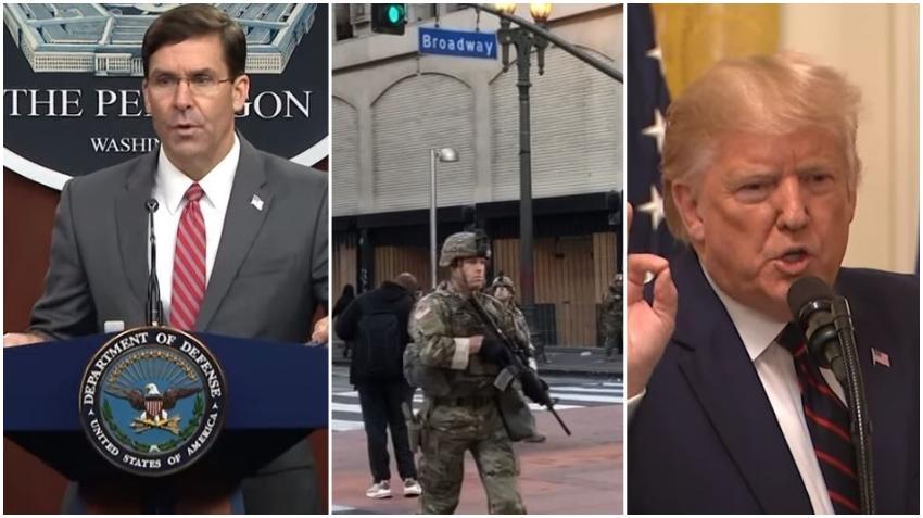 Secretario de Defensa de Estados Unidos no apoya decisión del presidente Trump de enviar a los militares a las calles