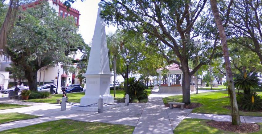 Ciudad de St. Augustine decide quitar monumento de la Confederación