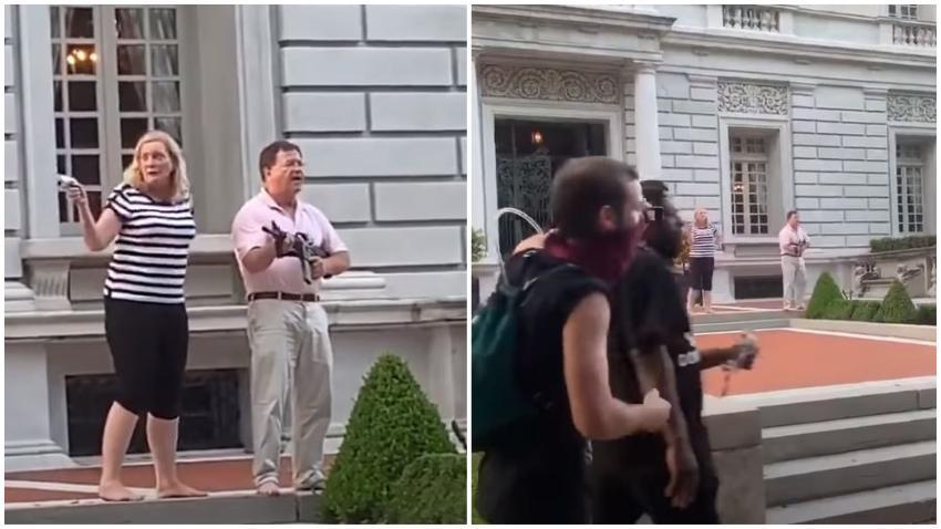 Anuncian cargos criminales contra matrimonio que expuso sus armas de fuego afuera de su vivienda delante de manifestantes
