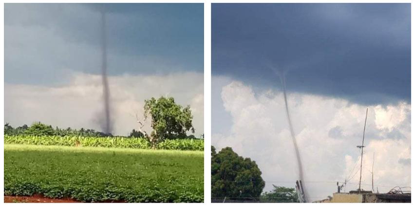 Reportaron un tornado en las cercanías de Güira de Melena, y una nube embudo en Boyeros