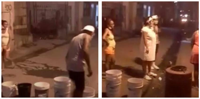 Vecinos de La Habana Vieja cierran el tráfico denunciando no tienen agua potable