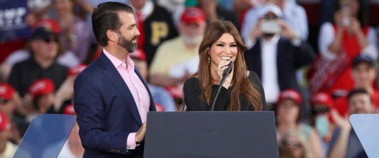 La novia del hijo del presidente Trump dio positivo al Covid-19, antes del evento por el 4 de julio en Dakota del Sur