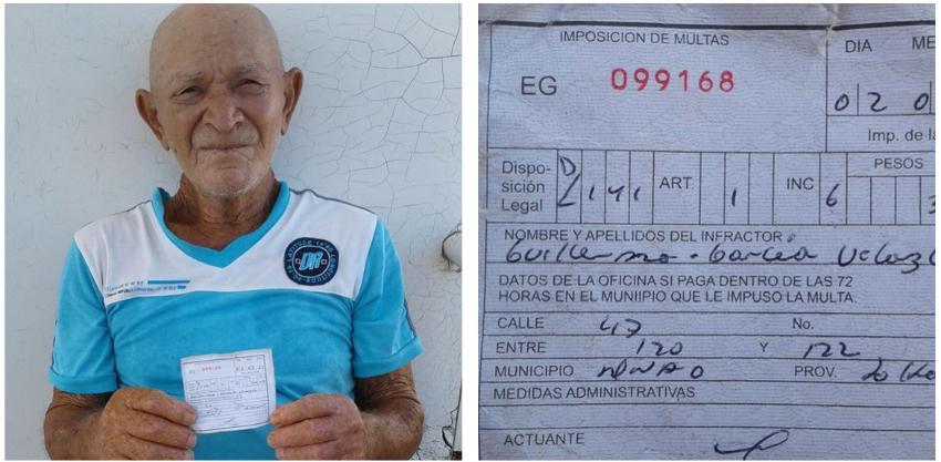 Detenido y multado un anciano cubano de 73 años, tras ser delatado por un chivato