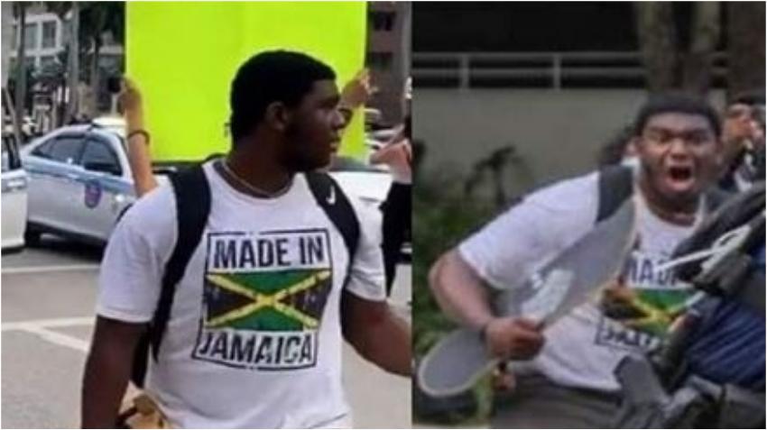 Policía de Miami busca a hombre acusado de golpear a un oficial con una patineta durante las protestas