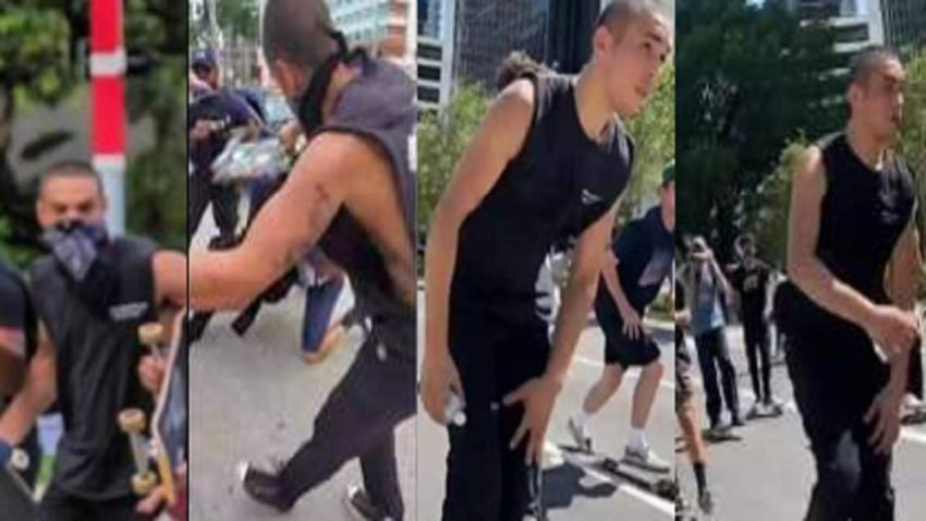 Policía de Miami pide ayuda para encontrar a sujeto que golpeó a un oficial durante una protesta en Bayfront Park