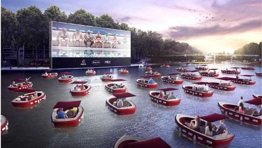 Un cine flotante para ver peliculas en bote podría llegar muy pronto a Miami