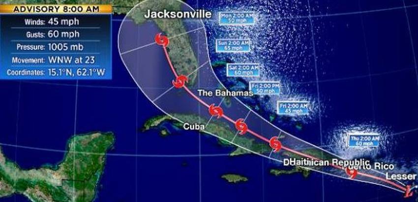 Depresión tropical 9 amenaza Cuba, Miami y otras partes del sur de la Florida
