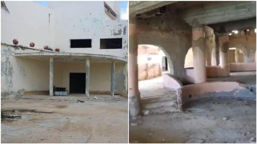 Cubano muestra como está de destruida la antigua discoteca del Comodoro en La Habana