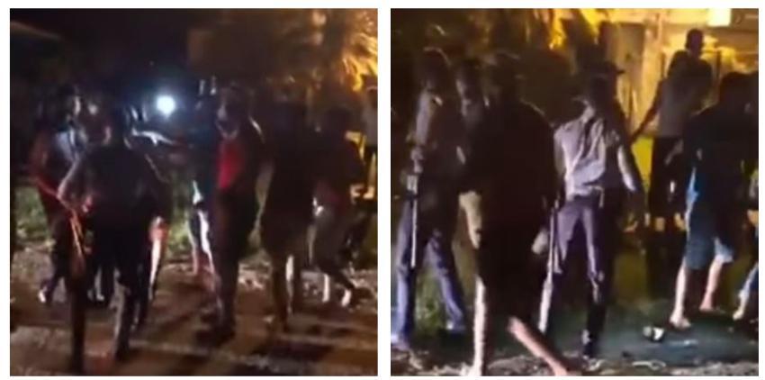 """Vecinos se enfrentan a la policía en Cuba: """"Esto es opresión al pueblo, están abusando del cargo"""""""